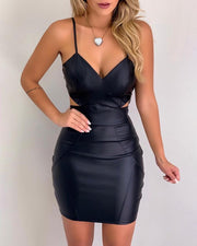 Cutout Waist Ruched Bodycon Dress