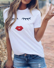 Eyelashes And Lip T Shirts