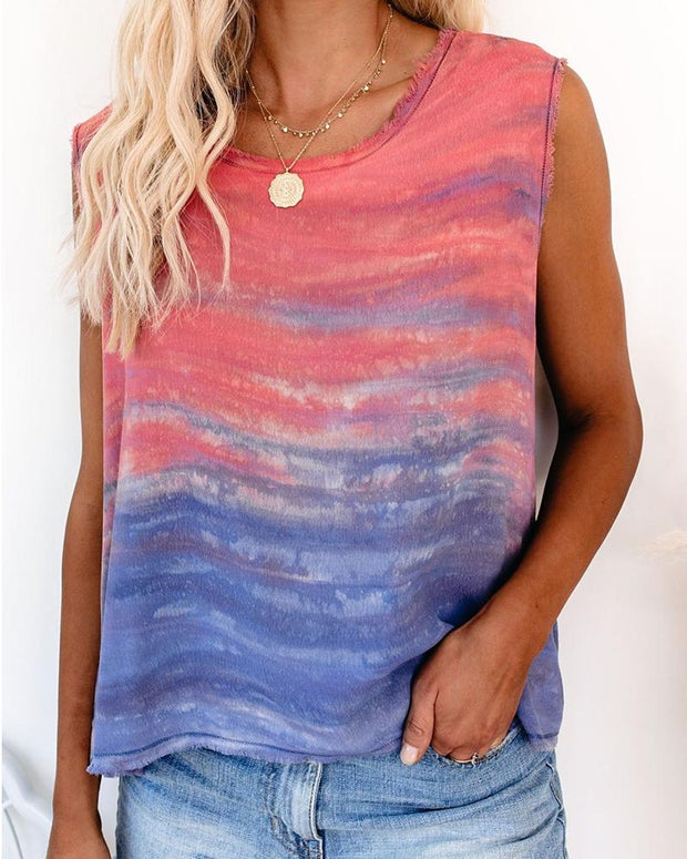 Round Neck Sleeveless Tank Top