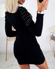 Long Sleeve Sequins Sweater Dress