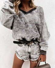 Loose Tie Dye Long Sleeve Sweatshirt