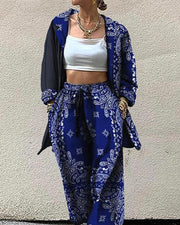 Printing Long Sleeve Pants Sets