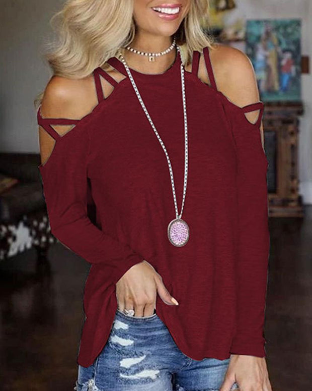 Solid Cozy Cut Out T-shirt