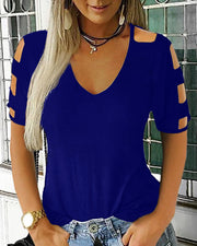 Geo Cut Out Casual Top