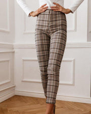 Plaid Slim Fit Pants