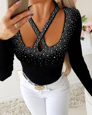 Embellished Cut Out Top