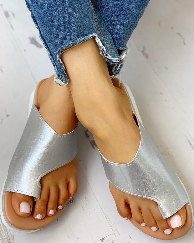 Toe Ring Cut Out Design Sandals