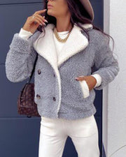 Color Block Long Sleeve Jacket