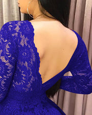 Open Back Lace Hollow Out Dress