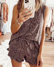 Leopard Print Two-Piece Set