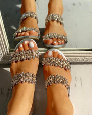 Studded Double Buckle Sandals
