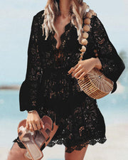 Hollow Out Crochet Lace Cover Up Dress