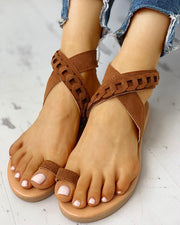 Toe Ring Crisscross Design Casual Sandals
