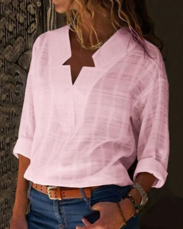 Star Neck Design Casual Shirt