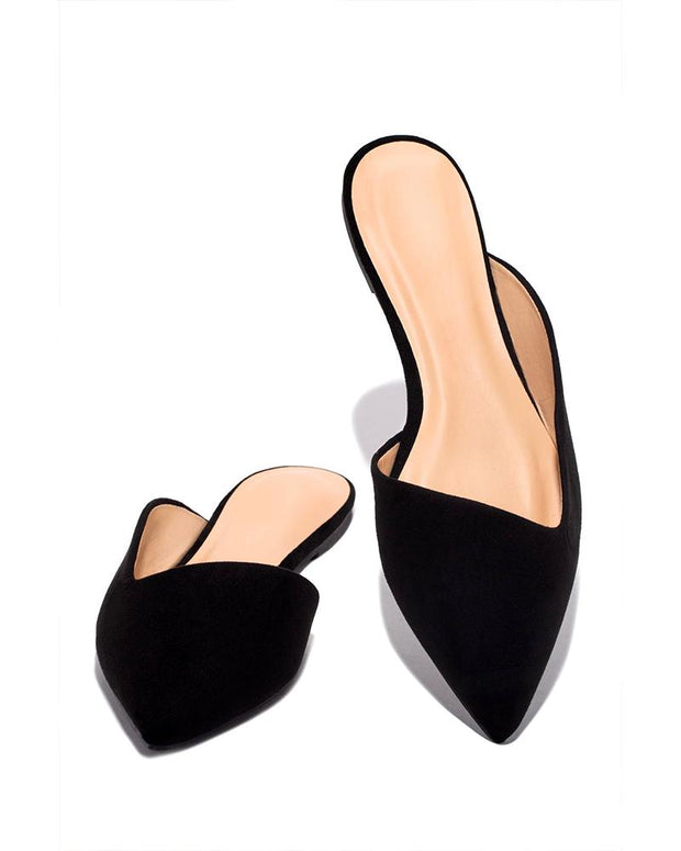 Pointed Toe Casual Mules