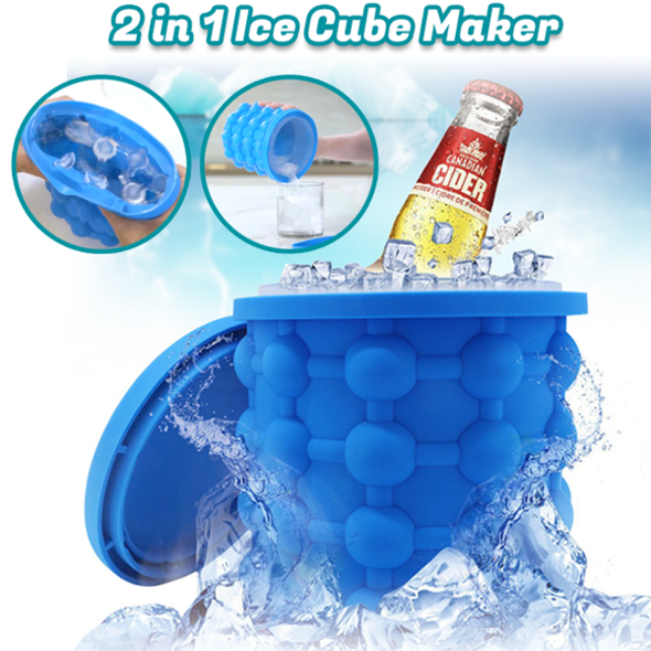 2 In 1 Blue Ice Cube Maker - Limited Time 50% OFF!!