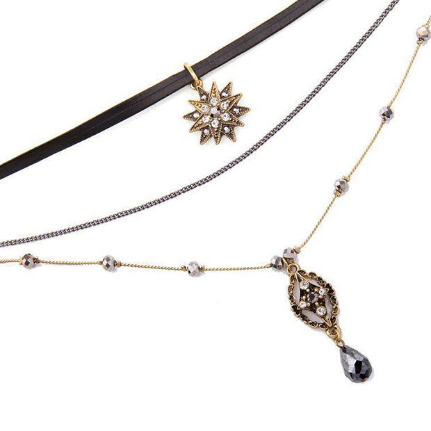 Water Drop Multilayer Necklace