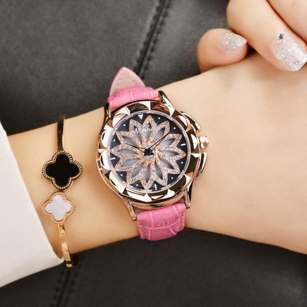 Rotational Flower Luck Up Watch