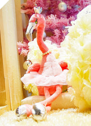 Lovely Elegant Dancing Flamingo