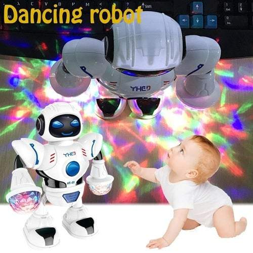 2019 New Kids Electronic Smart Space Dancing Robot with Music Flashing LED Light Walking Toys Christmas New Year Gift For Child