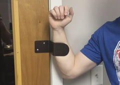 Forearm Pull allows you to simply hook forearm to pull open any door.