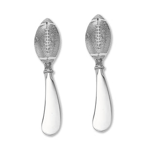 Wine Things 2-Piece Football Zinc Cheese Spreader
