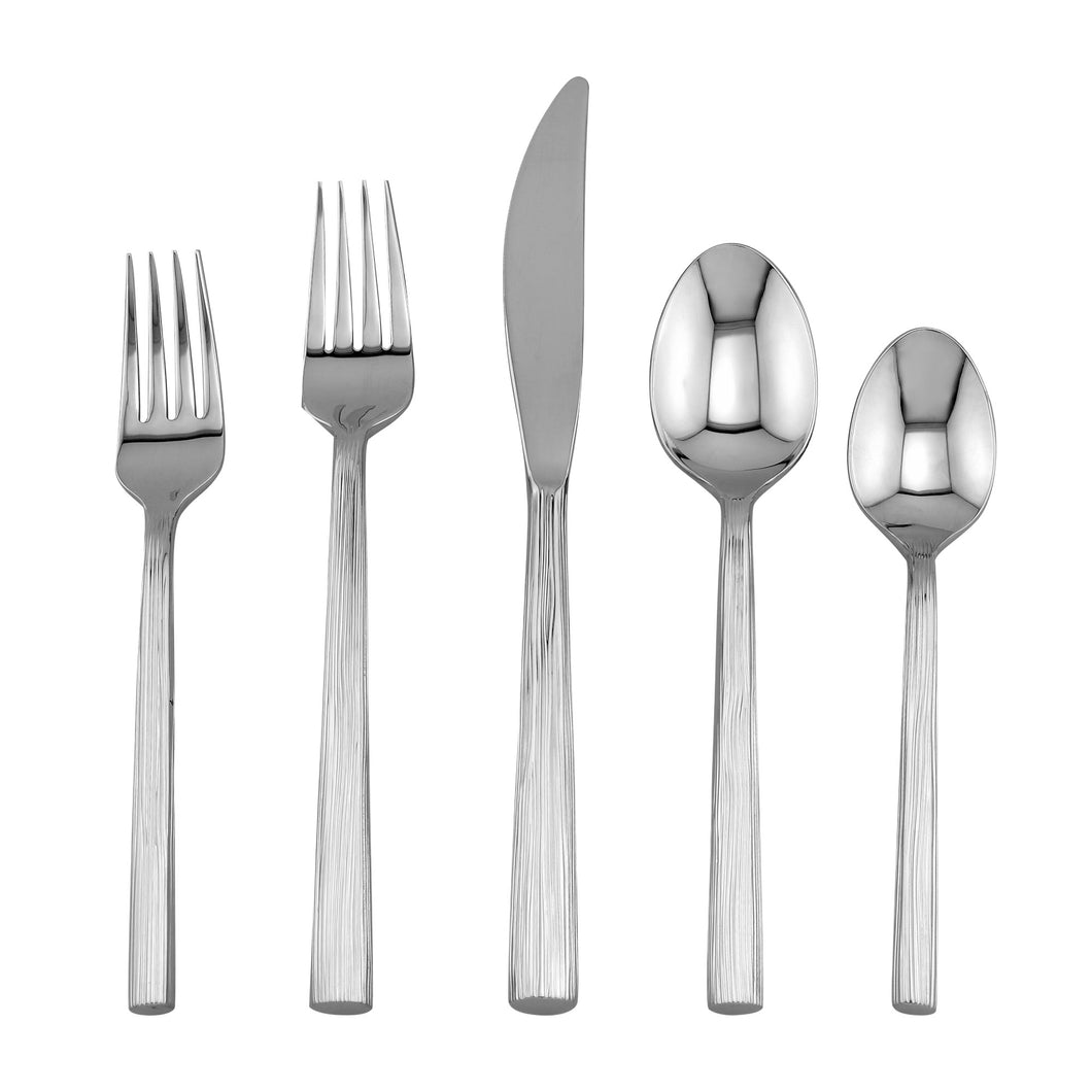 Supreme Stainless Steel 5-Piece Bistro Flatware Set