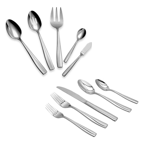Supreme Stainless Steel 45-Piece Placid Flatware Set