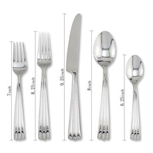 Load image into Gallery viewer, Supreme Stainless Steel 5-Piece Rainfall Flatware Set