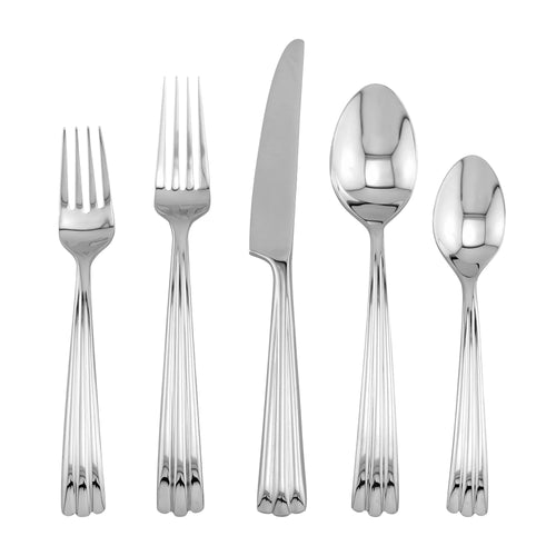 Supreme Stainless Steel 5-Piece Rainfall Flatware Set