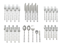Load image into Gallery viewer, Supreme Stainless Steel 45-Piece Bamboo Flatware Set