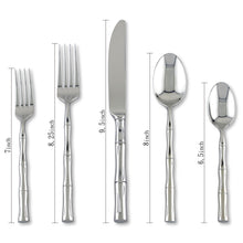 Load image into Gallery viewer, Supreme Stainless Steel 20-Piece Bamboo Flatware Set