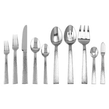 Load image into Gallery viewer, Supreme Stainless Steel 45-Piece Hammered Flatware Set