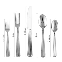 Load image into Gallery viewer, Supreme Stainless Steel 20-Piece Strip Flatware Set