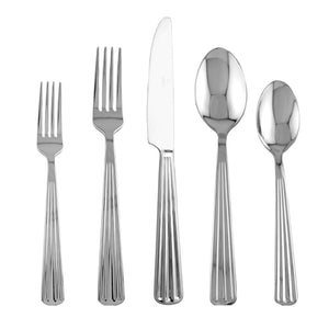 Supreme Stainless Steel 20-Piece Strip Flatware Set