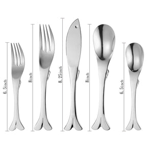 Supreme Stainless Steel 20-Piece Fish Flatware Set