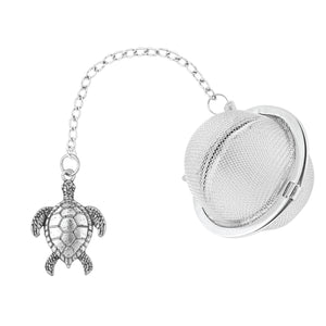 Supreme Stainless Steel Tea Ball Infuser with Sea Turtle Charm