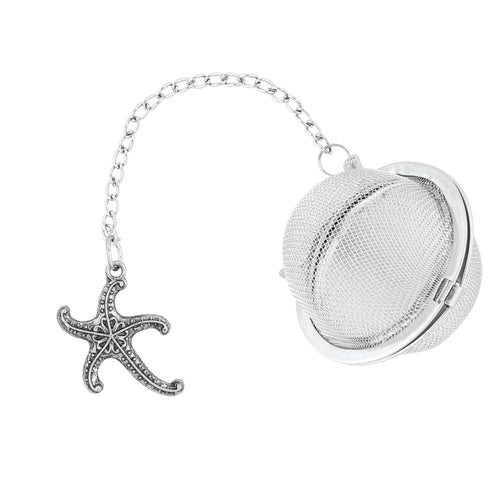Supreme Stainless Steel Tea Ball Infuser with Starfish Charm