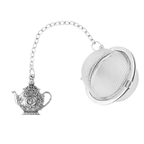 Supreme Stainless Steel Tea Ball Infuser with Teapot Charm