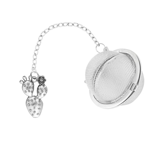 Supreme Stainless Steel Tea Ball Infuser with Prickly Pear Charm