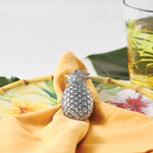 Load image into Gallery viewer, Supreme Zinc 4-Piece Pineapple Napkin Rings