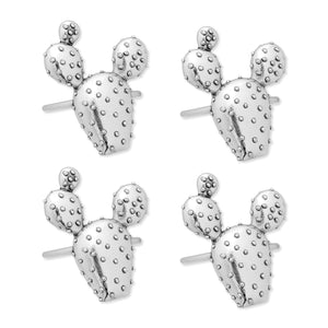 Supreme Zinc 4-Piece Prickly Pear Napkin Rings