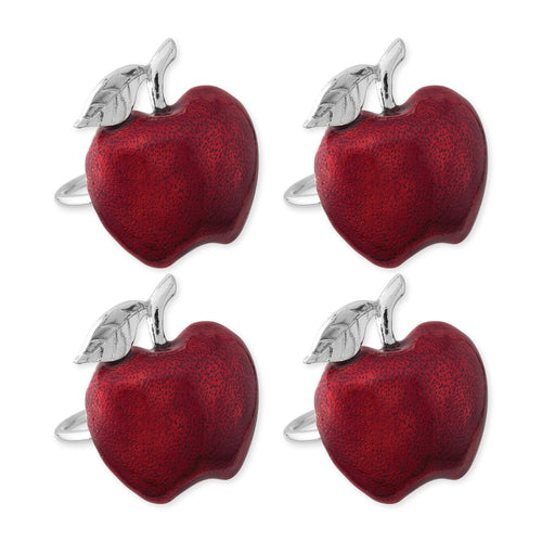 Supreme Zinc 4-Piece Apple Napkin Rings