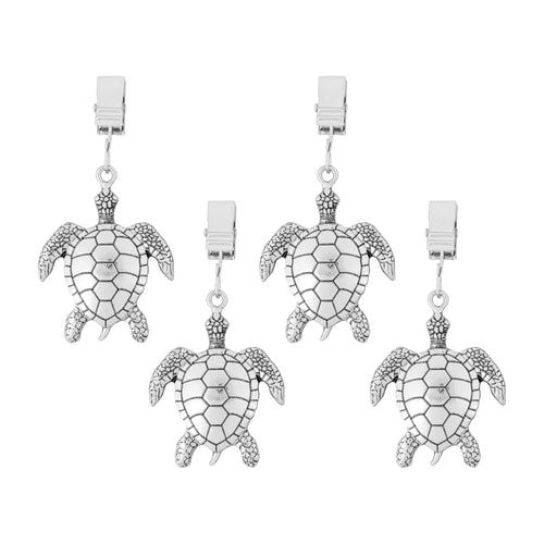 Supreme Zinc 4-Piece Sea Turtle Tablecloth Weights