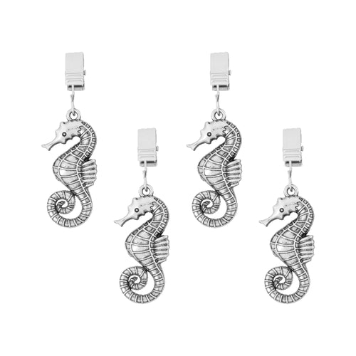 Supreme Zinc 4-Piece Seahorse Tablecloth Weights