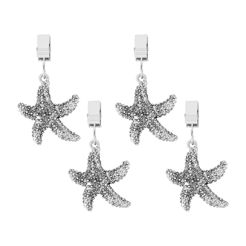 Supreme Zinc 4-Piece Sea Star Tablecloth Weights