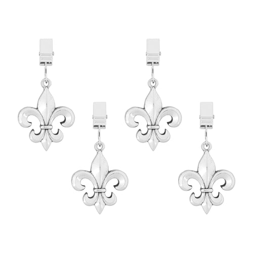 Supreme Zinc 4-Piece Fleur-de-lis Tablecloth Weights