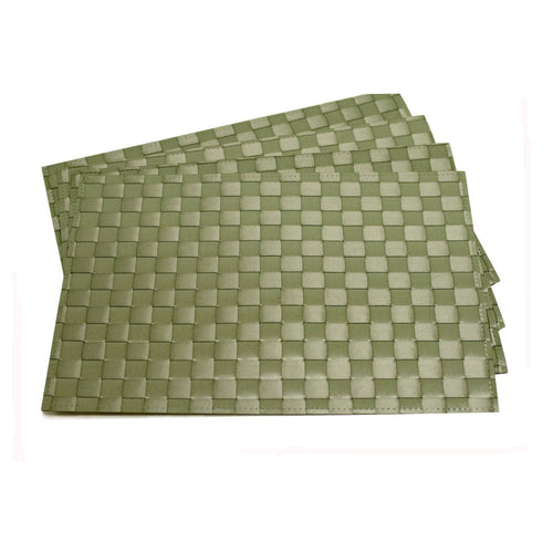 Gourmet Art 4-Piece PP Placemat, Sage Green