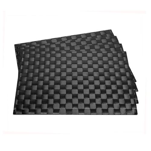 Gourmet Art 4-Piece PP Placemat, Black