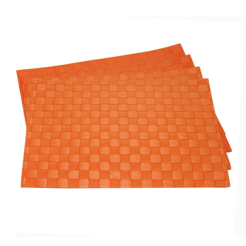 Gourmet Art 4-Piece PP Placemat, Burnt Orange